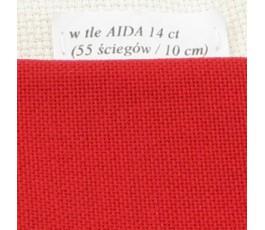 LUGANA 25 ct (35 x 35 cm) kolor 9003 - czerwony