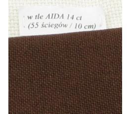 LUGANA 25 ct (35 x 35 cm) kolor 9024 - brązowy