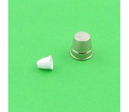Końcówka do sznurka 10 x 10 mm kolor: biały