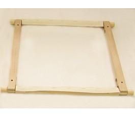 Ramy drewniane do haftu 30 cm x 30 cm.