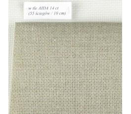 AIDA 18 ct-Linen (50 x 70 cm) kolor: 53 - naturalny
