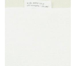Len 35 ct (50 x 85 cm) kolor: 101 - kość słoniowa