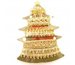 Zestaw złotych wstążek Christmas Tree 4 x 1 m