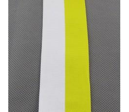 Tasiemka biało-żółta 5 cm