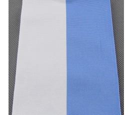 Tasiemka biało-błękitna 10 cm