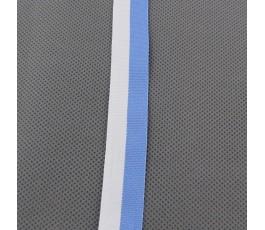 Tasiemka biało-błękitna 2 cm