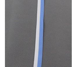 Tasiemka biało-błękitna 1,2 cm