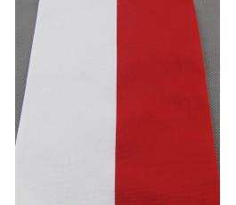 Tasiemka biało-czerwona 15 cm
