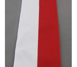 Tasiemka biało-czerwona 10 cm