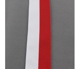 Tasiemka biało-czerwona 4 cm