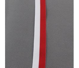Tasiemka biało-czerwona 2 cm