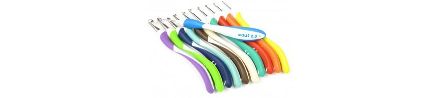 Ergonomic crochet hooks (Addi)