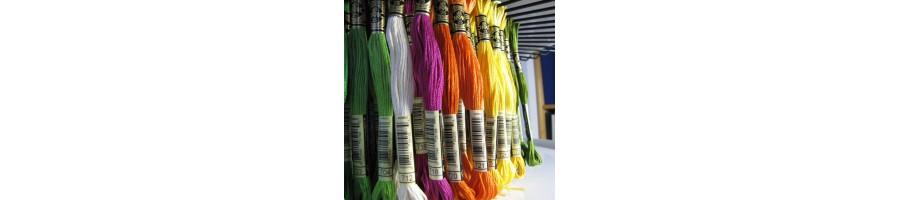 Six strand embroidery floss DMC